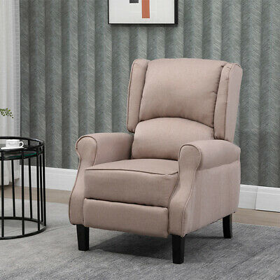 £169.99 • Buy Adjustable Fabric Recliner Chair Armchair Sofa Wing Back Fireside Leisure Lounge