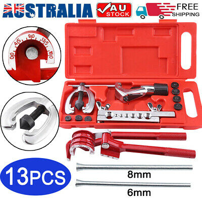 AU36.99 • Buy 13Pcs Brake Air Line Double Flare Flaring Tool Kit Set + 3 In 1 Tube Pipe Bender