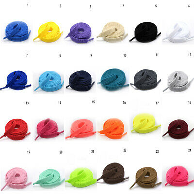 £1.65 • Buy 1 Pairs Flat Colorful Shoe Laces Shoelaces DIY For Football Boots Trainer Shoes