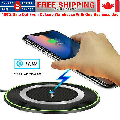 $ CDN9.99 • Buy 10W Fast Wireless Charger For IPhone 11 Pro XS Max XR X 8 Plus USB Qi Charging