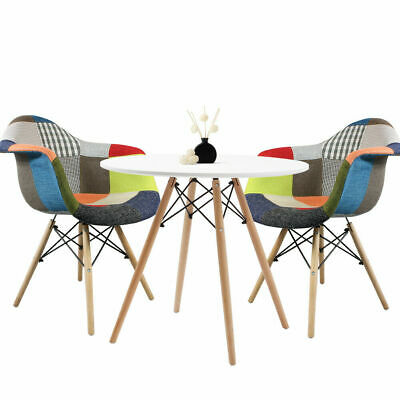AU299.95 • Buy Round Dining Table And 2 Chairs Retro Cafe Restaurant  Eiffel=-