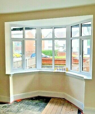 £950 • Buy 9 X UPVC DOUBLE GLAZING WINDOWS - 8 FLAT & 1 BAY - Only Fitted In March 2019