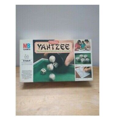Yahtzee Dice Game MB Games Vintage 1982 Complete Board Original Family Fun • 14.99£
