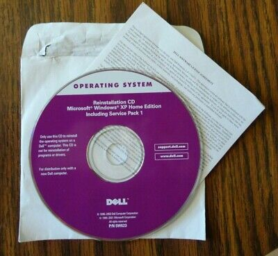 £18.12 • Buy DELL Windows XP Home Edition Service Pack 1 Reinstallation CD P/N 5W623 USA Made