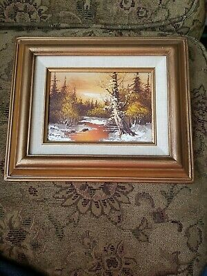 $ CDN72.51 • Buy Phillip Cantrell Fall Autumn Landscape Framed Small Signed Painting On Wood