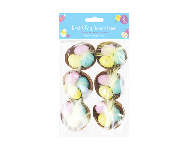 Easter Egg Nest Decorations - 6 Pack • 5.19£