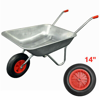 14  Red Pneumatic Wheelbarrow Wheel With 1  Bore (3.50/4.00-8) • 7.99£