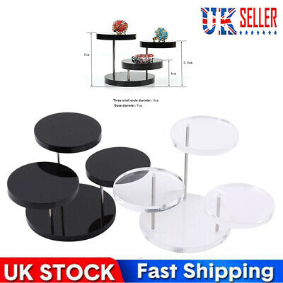 £5.59 • Buy Acrylic Necklace Ring Earrings Stand Rotating Thick Podium Ring Display Stand
