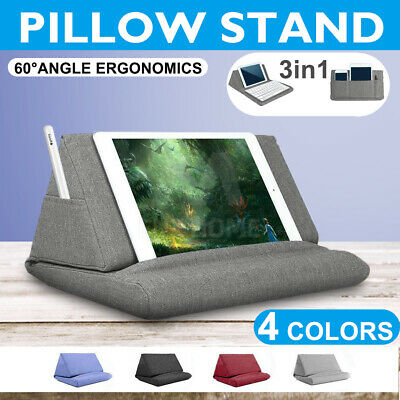AU16.15 • Buy 3in1 Tablet Pillow Stands For IPad Book Reader Keyboard Holder  Reading Cushion