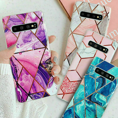 AU10.98 • Buy For Samsung Galaxy S8 S9 S10 S20Plus Marble Shockproof Silicone Phone Case Cover