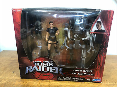 Lara Croft With SIMON Action Figure Tomb Raider 6  15cm Angelina Jolie Playmates • 40£