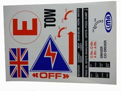 £4 • Buy Classic Race Car Safety Stickers Sheet, Rally, Motorsport,