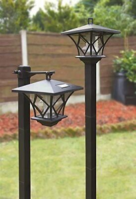 NEW 2 X Rechargeable Lamp Post Garden Outdoor Solar Powered Lights Street LED • 31.99£