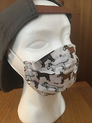 Last One! Staffy/Staffordshire Bull Terrier Unisex 4 Ply Face Covering Reuseable • 4£