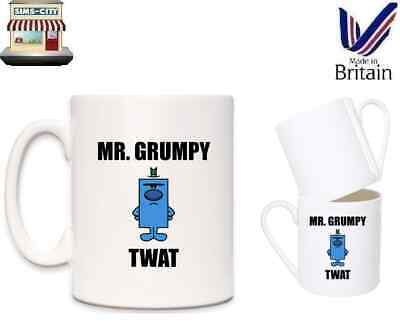 Mr Grumpy Twat Novelty Coffee Tea Brand New Boxed Mr Men Style Mug Cup Brew Mg11 • 8.95£