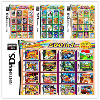 £14.99 • Buy 208/488/500/520 IN 1 Games Card Cartridge Multicart For Nintendo DS 3DS 2DS R4
