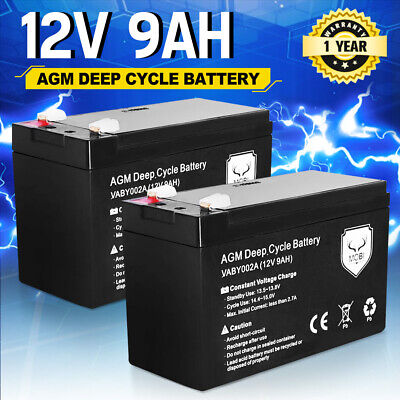 AU59.94 • Buy New Pair 9AH AGM Battery Dual Solar Power AMP Lead Acid SLA Deep Cycle Battery