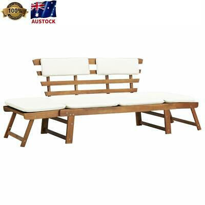 AU299 • Buy Outdoor Bench Sun Lounge Day Bed Wooden Furniture Garden Pool Chair 190cm