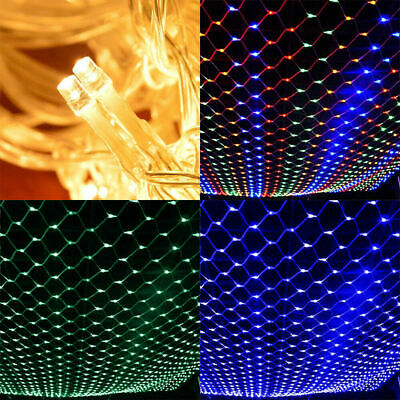 3*2M LED String Fairy Net Lights Curtain Mesh Waterproof Christmas Tree Party • 11.99£