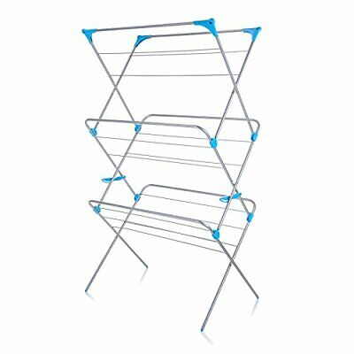 Minky Extra Wide 3 Tier Airer, Metal, Silver, 18m, Clothes Dryer Indoor Dryer • 45.99£