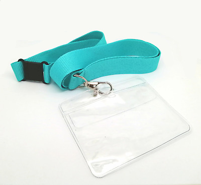 20mm Plain Lanyards With Safety Break, Metal Clip And ID Holder • 1.45£