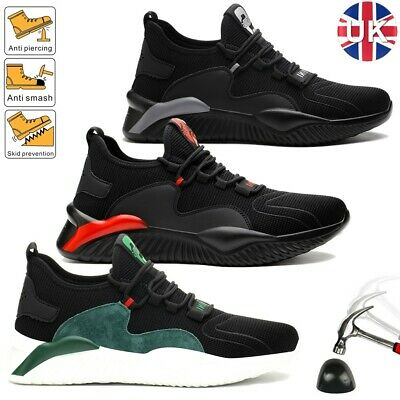 £22.99 • Buy Mens Safety Shoes Lightweight Trainers Women Work Steel Toe Cap Boots Size 3-11