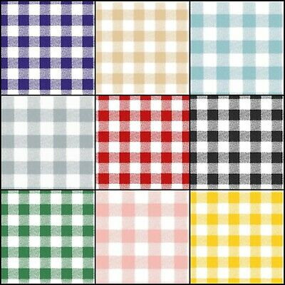 Wipe Clean Rectangular Tablecloth Gingham Check Vinyl Oilcloth 140cm Wide • 11.65£