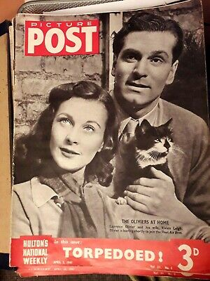 Picture Post Magazine 5th April 1941 Torpedoed With Laurence Olivier On Cover • 6£