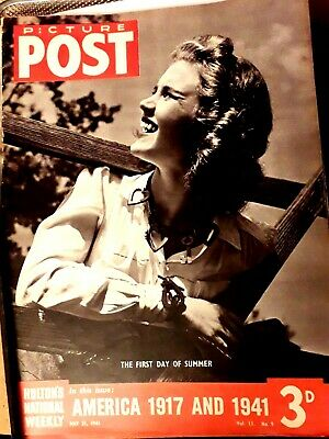 Picture Post Magazine 31st May 1941 America 1917 And 1941 • 5£