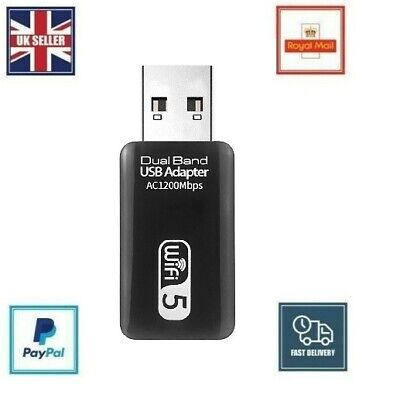 £8.99 • Buy 1200Mbps USB 3.0 Dual Band WiFi Dongle 5.8GHz/2.4G Wireless Network Adapter