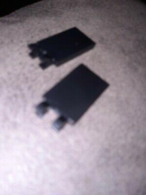 £2.65 • Buy LEGO Flat With Clips 30350 Black X  2   TILE WITH 2 CLIPS At End