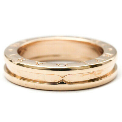 AU1106 • Buy Polished BVLGARI B-ZERO1 Ring XS Size #51 US 6 18K Pink Gold PG BF521080
