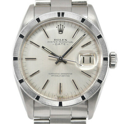$ CDN3969.34 • Buy ROLEX Oyster Perpetual Date 1501 Silver Dial Automatic Men's Watch K#97828