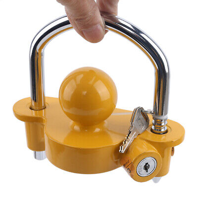 AU20.89 • Buy Trailer Parts Coupling Lock Universal Hitch Tow Ball 2 Keys Caravan Antitheft