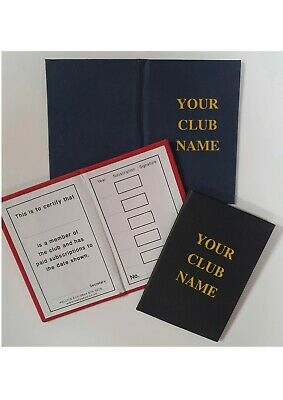 £215 • Buy Club Membership Cards Hardbacked Linen Gold Lettering Personalised 5 Year X 400