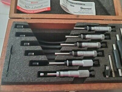 $850 • Buy Starrett  0-6 Outside Micrometer Set
