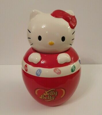 £10 • Buy Official HELLO KITTY JELLY BELLY Ceramic Jelly Bean Sweetie Jar Cute Collectable