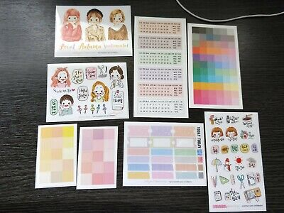 AU15.50 • Buy Korean Stickers Months Emotio For Bullet Journal And Scrapbooking Decoration 8pc