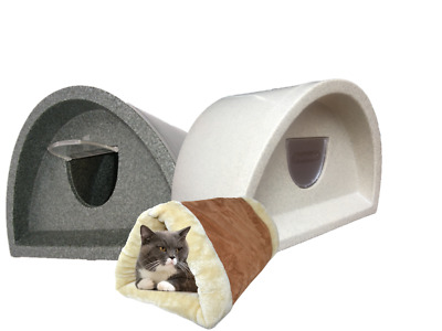 £59 • Buy  Waterproof Cat Kennel £69.00 With Flap Tunnel Outdoor Cat Shelter / Kennel