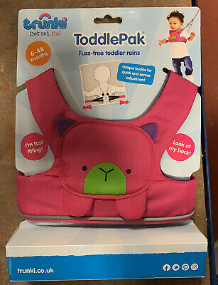 Trunki ToddlePak Toddler Reins - Betsy Bear Pink  - Brand New • 13.99£