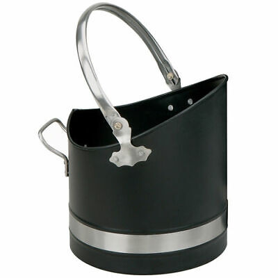 Manor Warwick Coal Bucket Scuttle Hod Fuel - Black & Pewter - 1396 • 48.99£