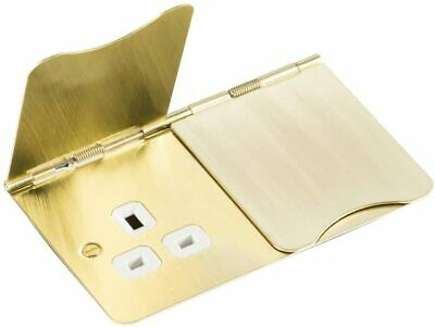 Knightsbridge 13A 2g Unswitched Floor Socket Brushed Brass For Home Or Office • 14.99£