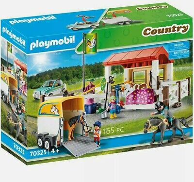 Playmobil Country Farm Play Set With Trailer Stables Horse 70325 • 64.95£