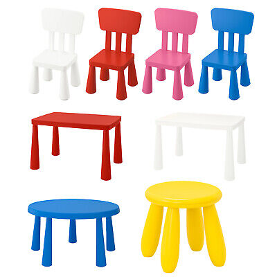 IKEA MAMMUT Children's Chairs Tables Stools Set Kids Play Series Indoor Outdoor • 36.99£