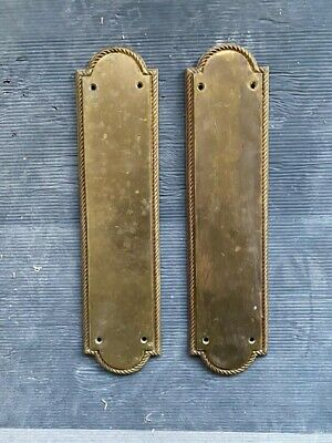 Reclaimed Solid Brass Door Finger Plates, From Victorian Salvage Project Fulham • 1.20£