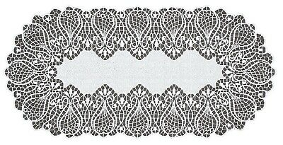 £7.99 • Buy Table Runner, White, Lace, Oval NEW (40cm X 80cm) (16 X 32 ),  Perfect Gift