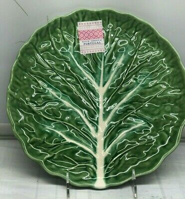 Olfaire Green Cabbage Leaves Dinner Plate Pottery Portugal New 10.5  • 20.74£