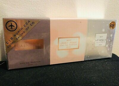 Womens Next Perfume Set Of 3 Cashmere Just Pink Sparkle 30mls Each New In Box • 33£
