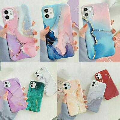 AU8.89 • Buy Watercolor Marble Soft Silicone Case Cover IPhone 12 Pro Max 12 Mini 11 X 8 7 SE