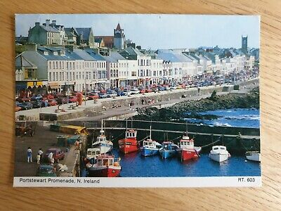 Portstewart Boats And Cars And People Posted 1989 • 1.99£